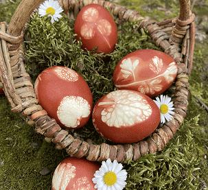 Ostereier färben mit Zwiebelschalen ©Leonie Dallinger